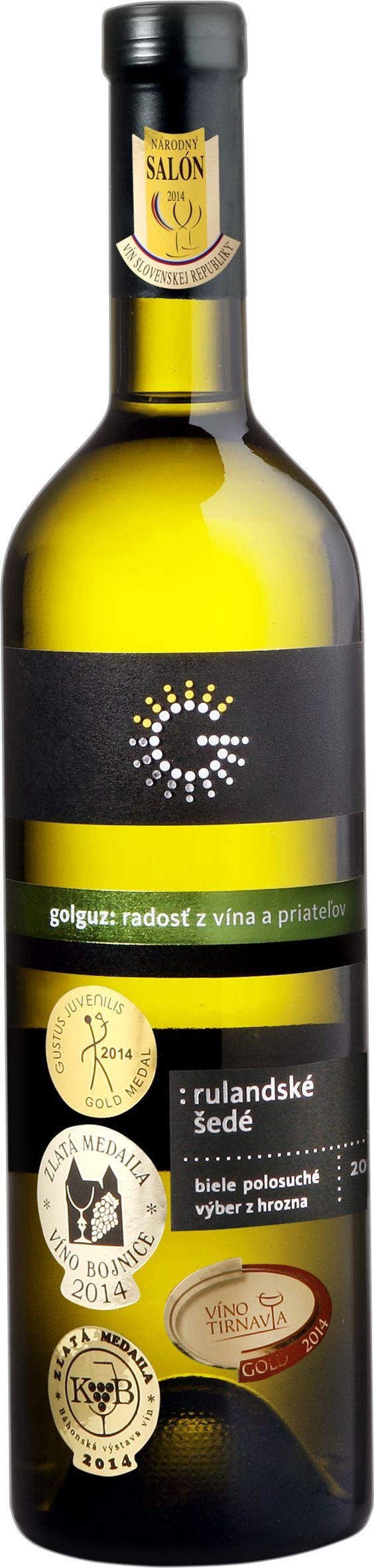 Ochutnajte Rulandské šedé víno z vinárstva Golguz, ročník 2014. Charakterizuje ho intenzívna slamovožltá farba farba, vôňa prezretého tropického ovocia, ananásu, príjemne plná sladkastá chuť, dlhá perzistencia. #wineexpert #wineexpertsk #wineexperteu #wine #winelovers #drinkwine #rulandskesede #golguz
