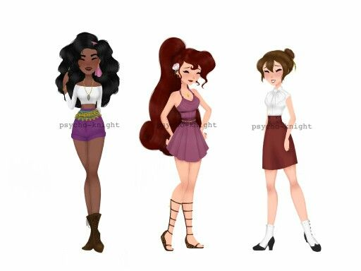Modern Esmeralda, Megara and Jane