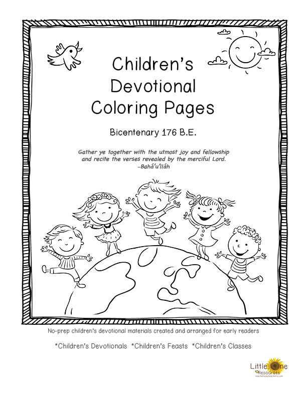 Children S Devotional Coloring Pages Of Baha I Quotes For