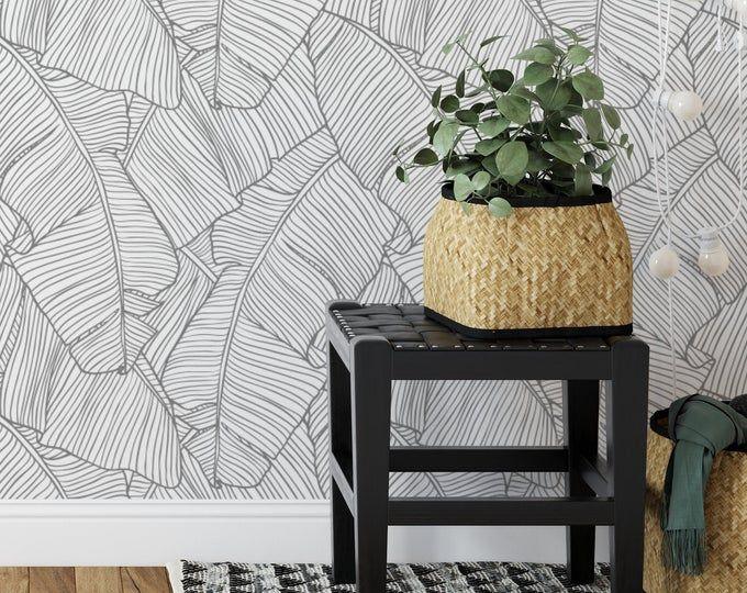 Gold Metallic Glitter Shinny Peel And Stick Wallpaper Embossed Etsy In 2021 Tropical Wallpaper Peel And Stick Wallpaper Stick On Wallpaper