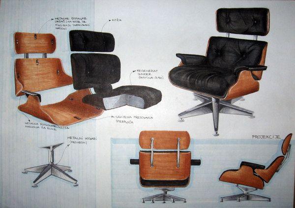 - Sketches and furniture analysis - sketching by Stevan Djurovic
