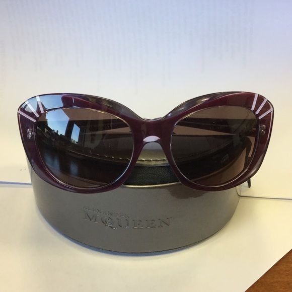 alexander mcqueen ONE DAY SALE authentic. very cool purplish color...cateye. Alexander McQueen Accessories Glasses