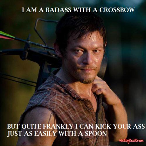 Daryl Dixon, Walking Dead, badass with a crossbow