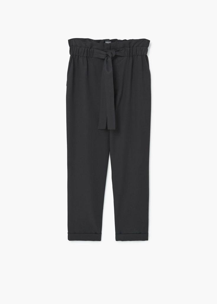 Pantalón cintura elástica - Pantalones de Mujer | MNG Colombia