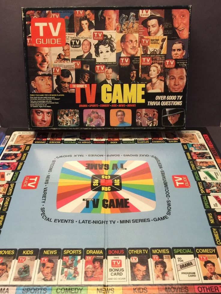 Vintage TV Guide Board Game (With images) Board games