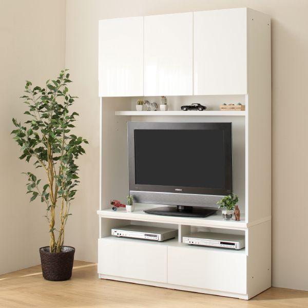 美しい光沢の壁面収納シリーズ テレビボード(ポルテ 120TV WH) ニトリ 【送料
