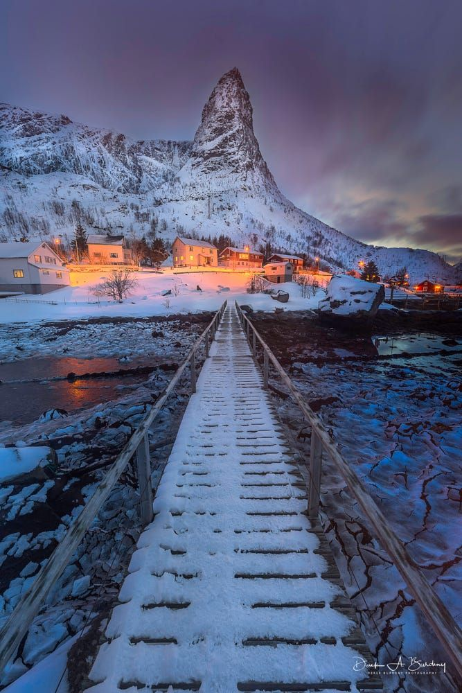 Bridge to Reine (Lofoten Islands, Norway) by Derek…