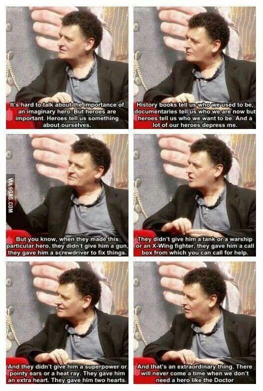 Best description of Doctor Who!