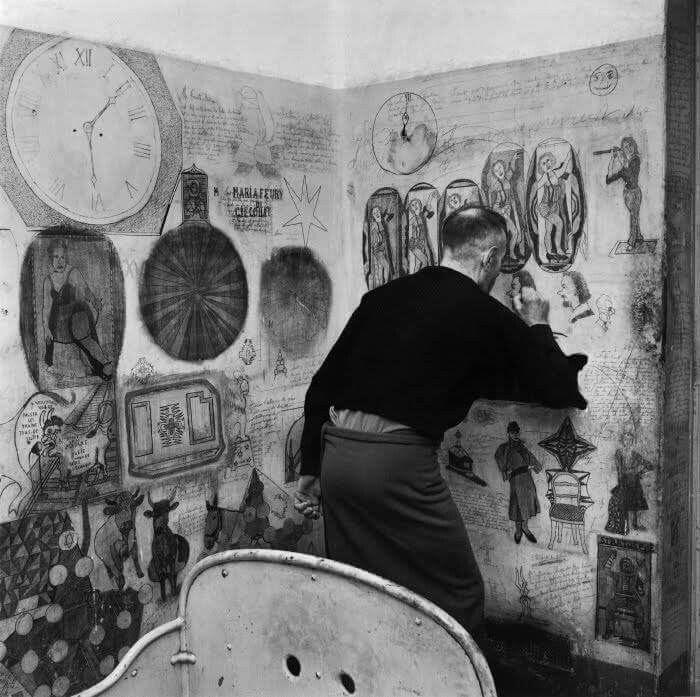 Francia: ospedale psichiatrico di Clermont - foto Jean-Philippe Charbonnier 1954