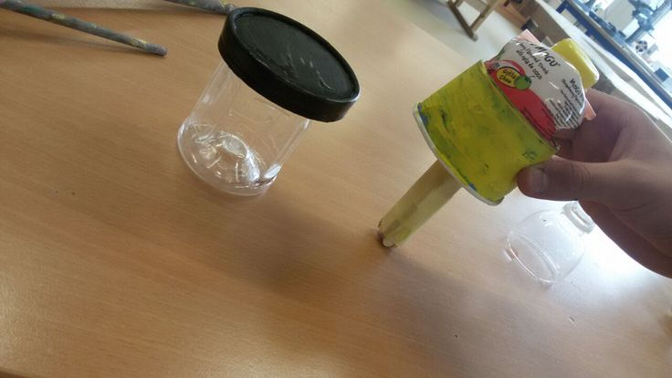 Eigen recycle hanglamp en staande lamp