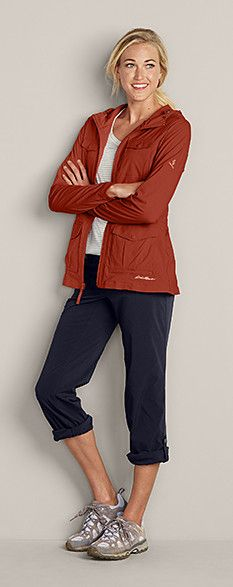 Atlas II Jacket, Horizon Roll-Up Pants, Eddie Bauer Lukla Lightweight Hikers