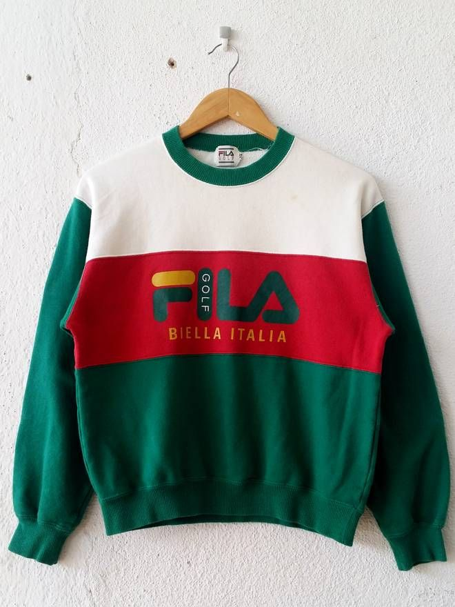 Fila Vintage Rare! Fila Biella Italia Multiblock Spell Out ...