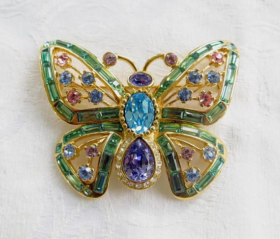 Vintage Nolan Miller Butterfly Brooch Glamour Collection