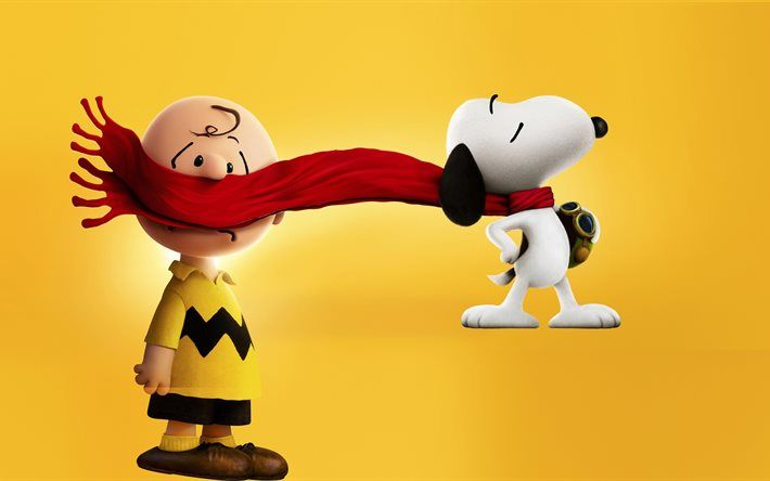Snoopy, Charlie Brown, characters, The Peanuts, 3D-animation