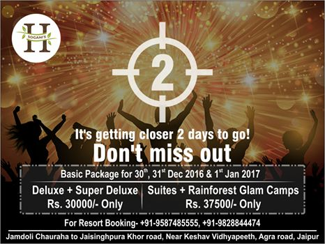 Two days to go for a brand New Year. #NewYear2017 #HeiwaHeaven #Luxury #Laugh #Party #2daystogo