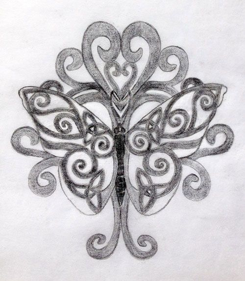 Celtic Butterfly and Tree of Life