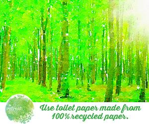 Why use recycled toilet paper? Here's some interesting facts: http://www.therefreshproject.com.au/refresh-go-green/we-all-should-be-using-recycled-toilet-paper/