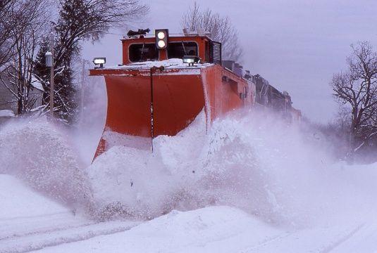 Commuter rail train in Shirley