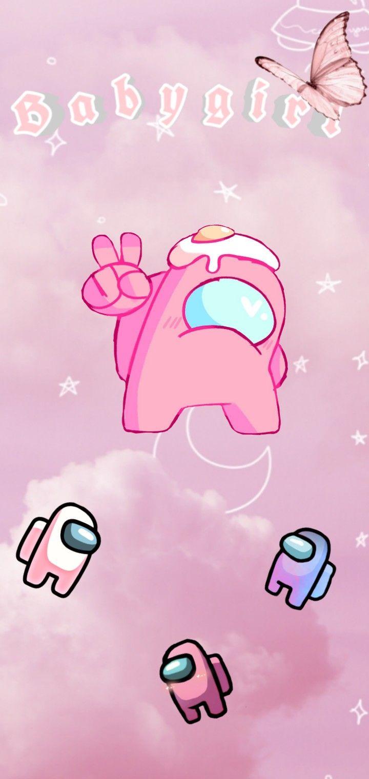 Pink Aesthetic Among Us Iphone Wallpaper Girly Wallpaper Iphone Cute Wallpaper Iphone Neon