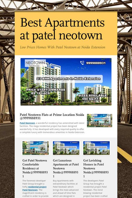 Best Apartments at patel neotown