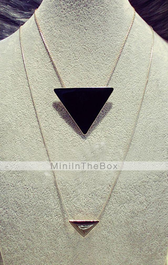 EUR € 1.31 - Gold Plated Alloy acrilico collana modello a triangolo, Gadget a Spedizione Gratuita da MiniInTheBox!