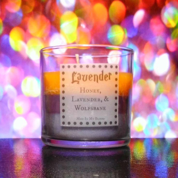 Lavender Brown Scented 4oz Candle- Honey, Lavender, and Wolfsbane - Thumbnail 1