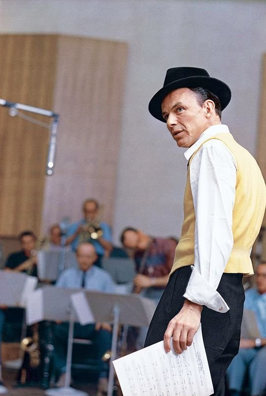 "francisalbertsinatra: "" Frank Sinatra in the studio, photographed by Sid Avery, 1957 """