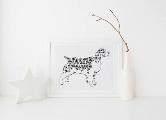 Springer Spaniel Dog Custom Print   FREE UK Postage - Custom Pet Portrait, Springer Spaniel Gift, Springer Spaniel Print, Springer Spaniel Art  Ships World Wide  #wetnosedoodles