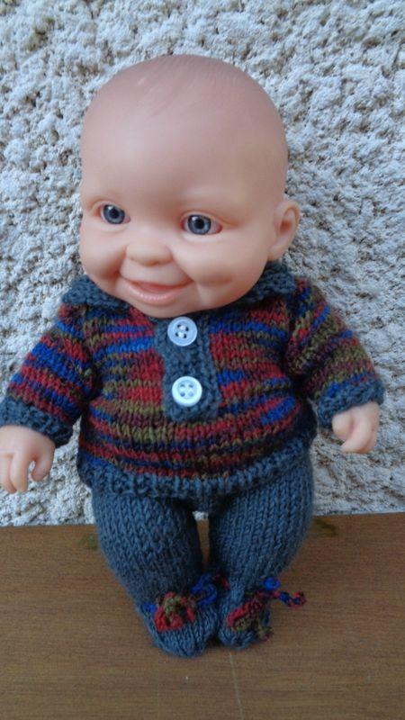 Ensemble tricot pour mini-bébé Paola Reina garçon...