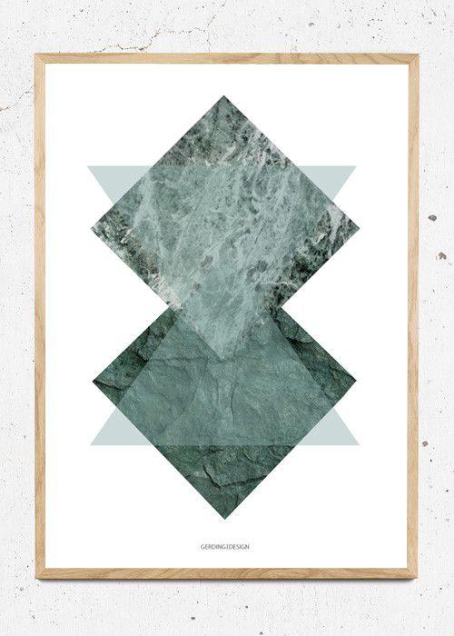 Plakat af Green Squares fra Gerding Design