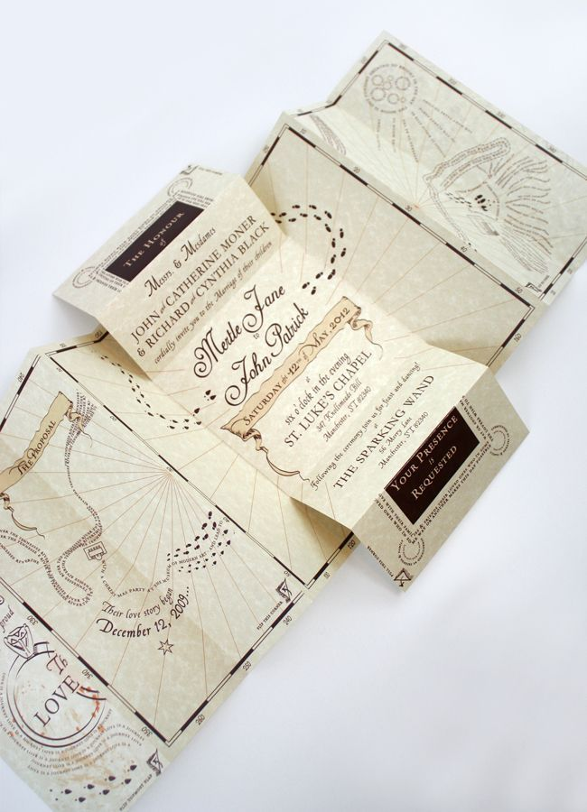 HARRY POTTER WEDDING INVITATIONS. THIS IS KINDA THE COOLEST THING EVER. IF I GOT ONE OF THESE IN THE MAIL I WOULD FLIP OUT AND KEEP IT FOREVER.