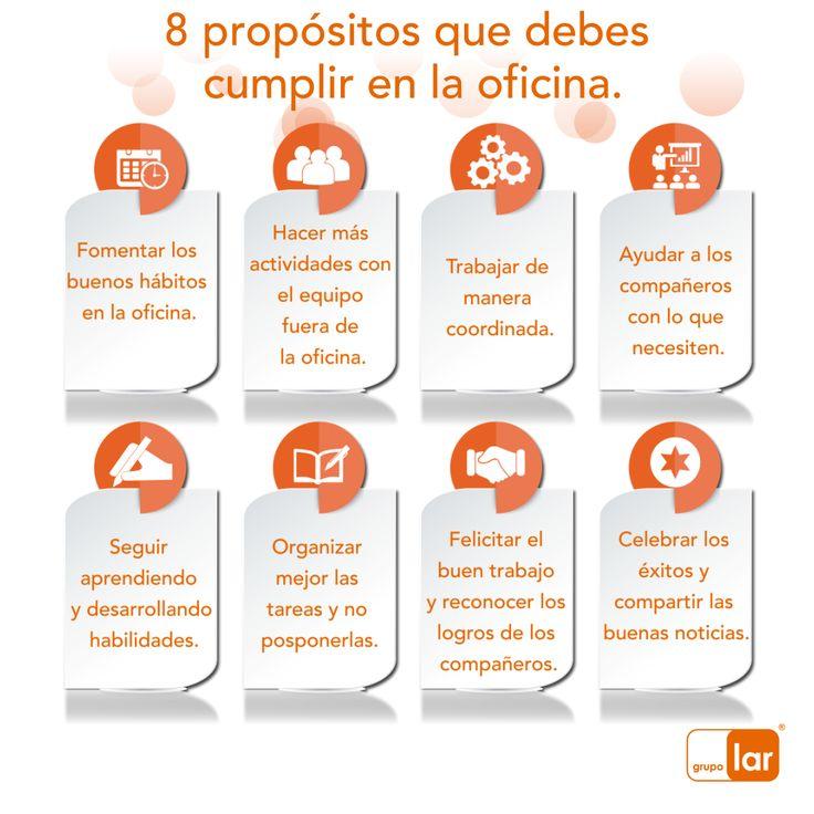 Comienza un nuevo año, y para iniciarlo de la mejor manera en la oficina te aconsejamos cumplir estos propósitos y tener un mejor ambiente laboral. #TipDeNegocios #Futuro #Emprendedor #Proyecto #Business #World #Tip #Crisis #Inversión #Advice #ElPoderDeCrear #GrupoLarMéxico