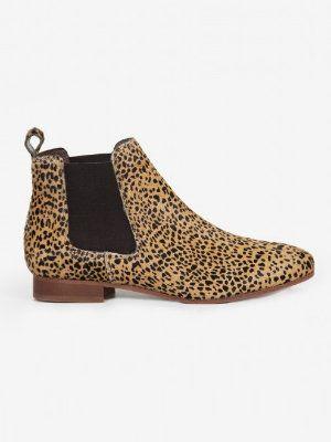 Boots Chelsea léopard de Bensimon : Des bottes et bottines qui vous bottent ! - Journal des Femmes
