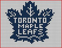 Ravelry: Toronto Maple Leafs chart pattern by Twisted Bark Designs