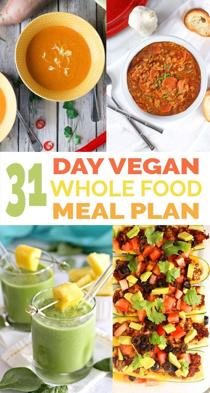 Vegan 31 Day Whole Food Meal Plan