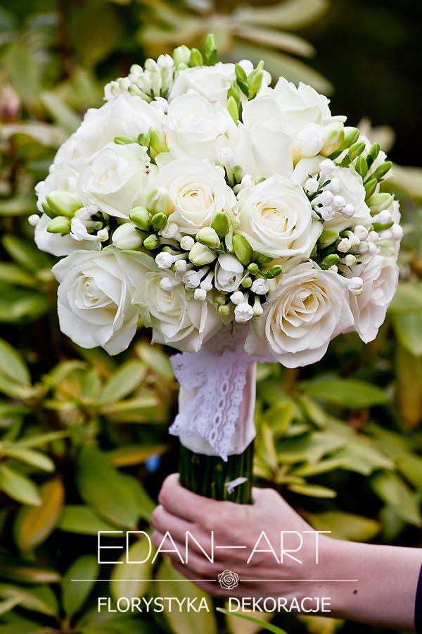 Bukiety Ślubne Edan-Art Mrągowo, Olsztyn, Warmińsko-Mazurskie, biały, ślub, bouvardia, róża, frezja,  #bukiet