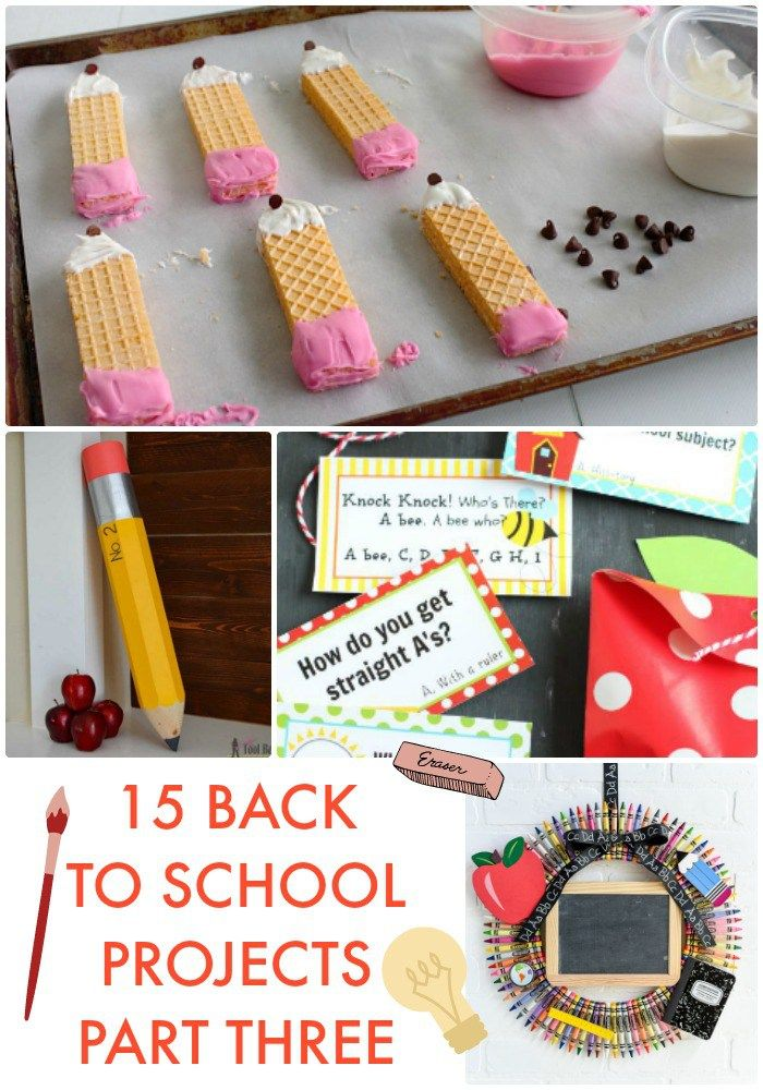 Great Ideas -- 15 Back to School Projects Part Three!