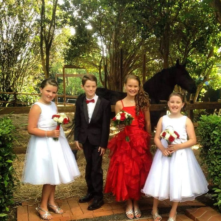 #Valentines day #wedding #flowergirls Red and white roses.