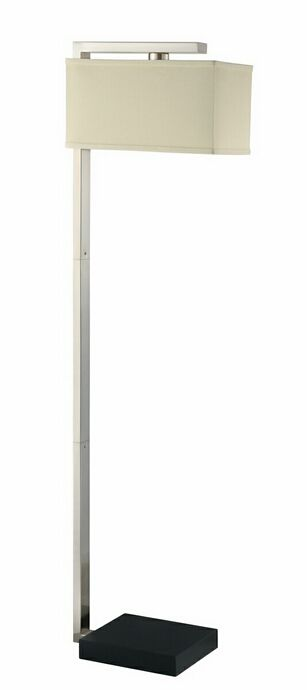 Silver floor lamp 25 pinterest contemporary style brushed silver floor lamp with an ivory lamp shade this floor lamp has mozeypictures Image collections