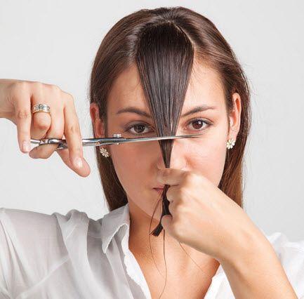 Comment se couper les cheveux soi m me quebec echantillons gratuits coiffure rapide - Comment couper une frange soi meme ...