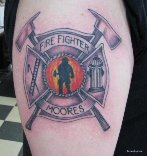 1000 images about fire tattoo 39 s on pinterest maltese for Firefighter tattoos and meanings