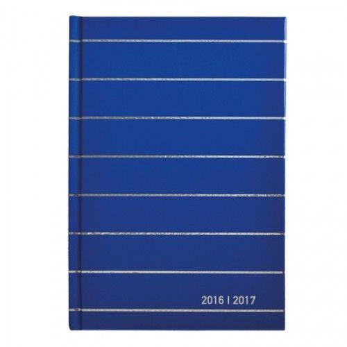 Schoolagenda A5 Soho Metallic blauw 2016-2017