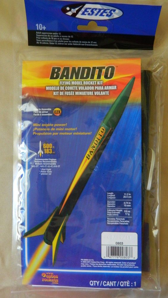 Estes 803 Bandito Flying Model Rocket Kit