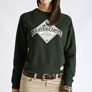 Green Beaver Canoe Crewneck Sweatshirt by Roots Canada.