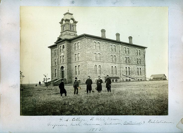 circa 1883 photo of Old Main, Gustavus Adolpus College, St. Peter, MN https://twitter.com/gustavus