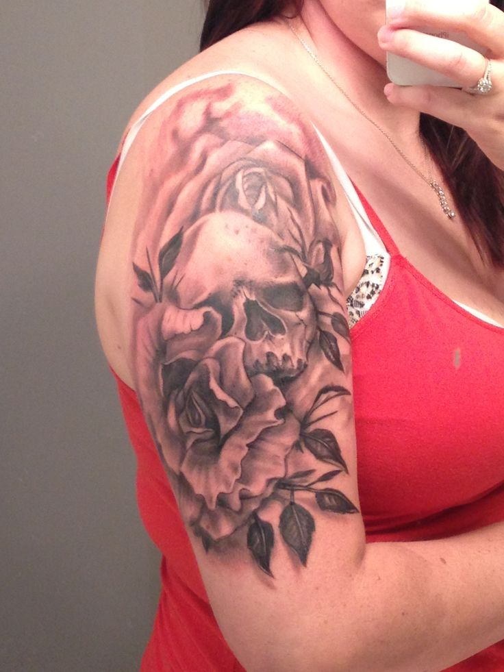 41 best images about tattoos on pinterest fonts small for Skull and flowers tattoos