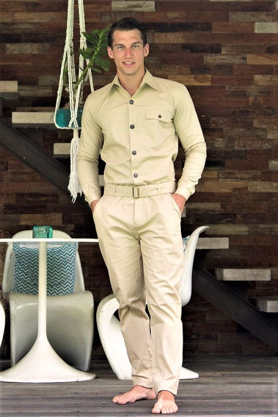 Hey, I found this really awesome Etsy listing at https://www.etsy.com/listing/492122748/jumpsuit-for-men-beige-designer-jumpsuit