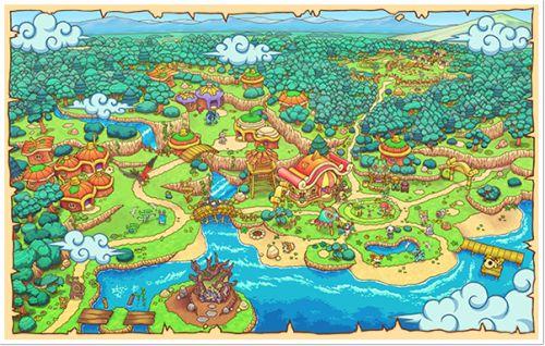 pokemon-global-academy:  Pokemon Super Mystery Dungeon Map Artwork