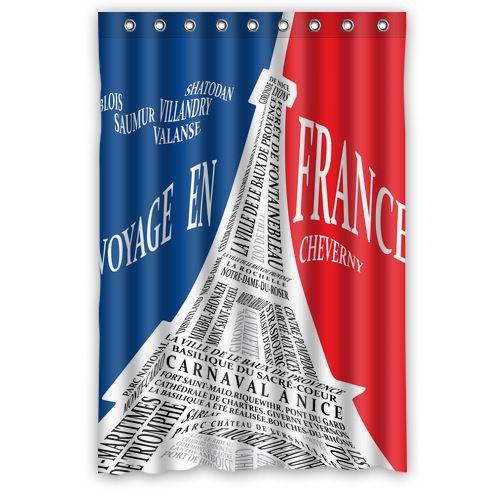 Encontre mais Cortinas de banheiro Informações sobre Original projetado torre Eiffel a partir dos nomes de atrações cortina de chuveiro 48'x 72 ', de alta qualidade Cortinas de banheiro de Custom-DIY em Aliexpress.com