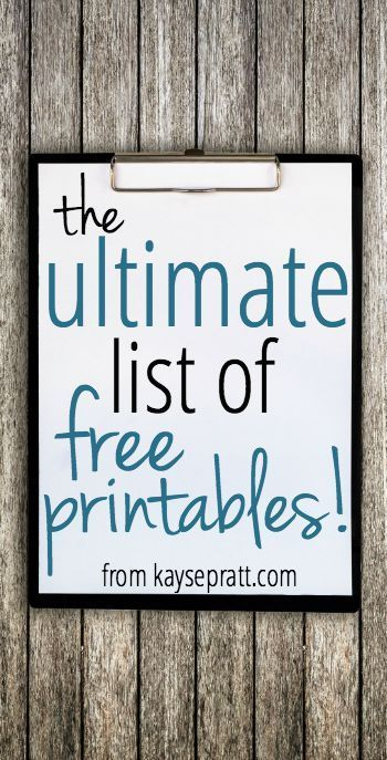 The ultimate list of free printables - from home management, to family fun, to scripture printables, and more! Find everything you need here.
